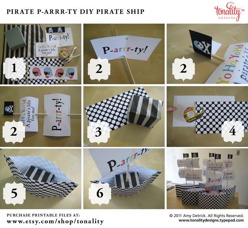 Diy Pirate Ship Centerpiece Instructions